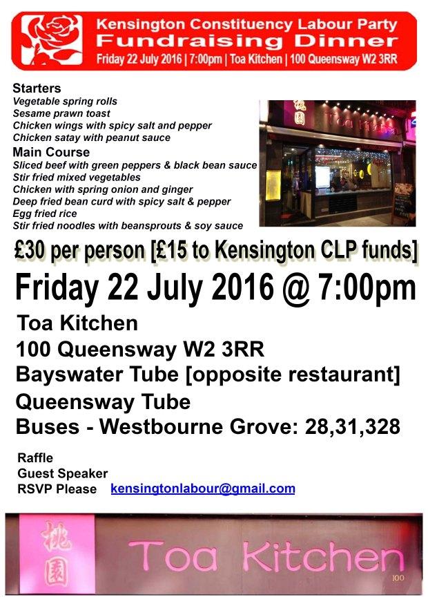 Fundraising Dinner 22-07-16