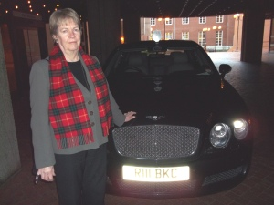 Cllr JB with Mayoral Bentley