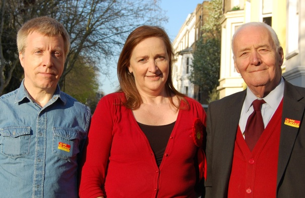 Emma and Pat with Tony Benn - Copy