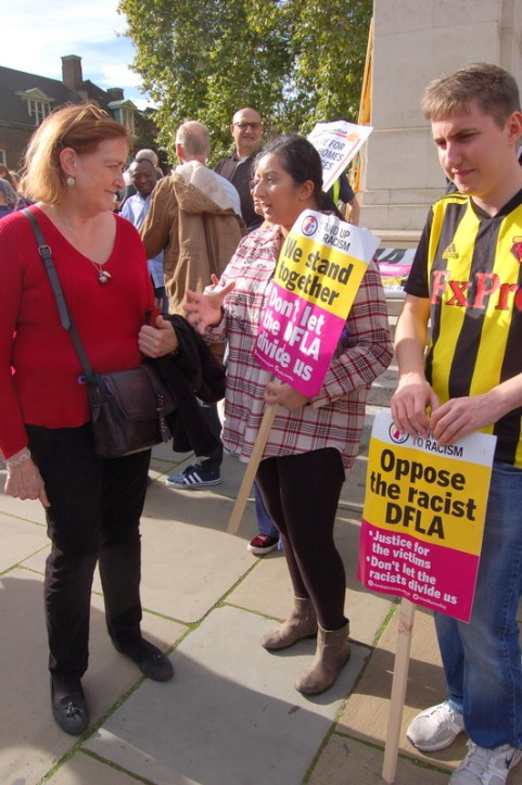 Emma Dent Coad MP and participants to the march