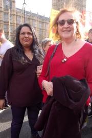 Emma Dent Coad MP and sympathiser