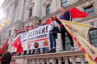 Sympathisers at the anti-DFLA march showing their solidarity